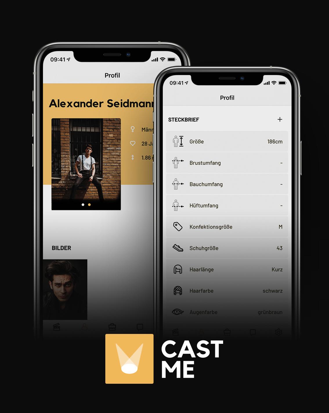dein persönliches Profil in der CAST ME App